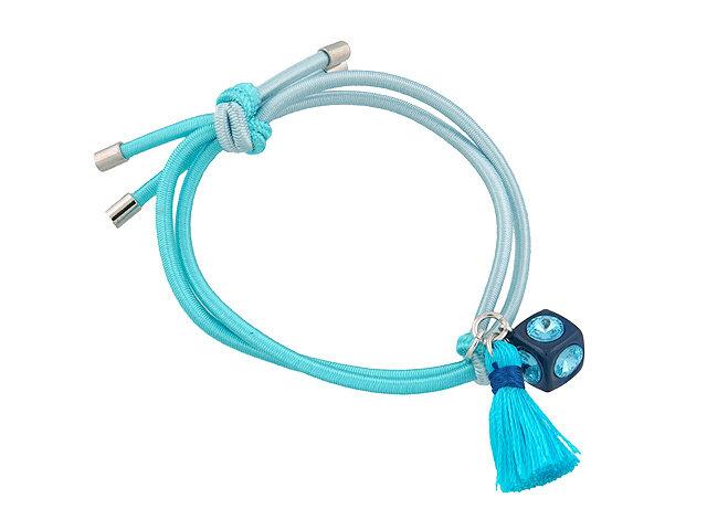 Резинка для волос голубая
