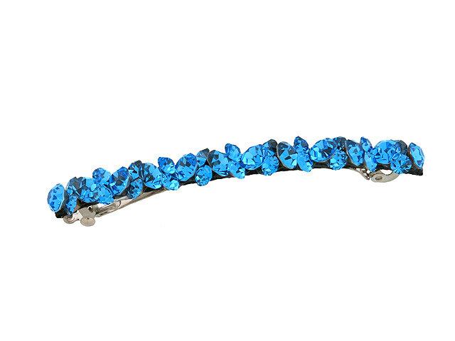 Заколка для волос синяя
