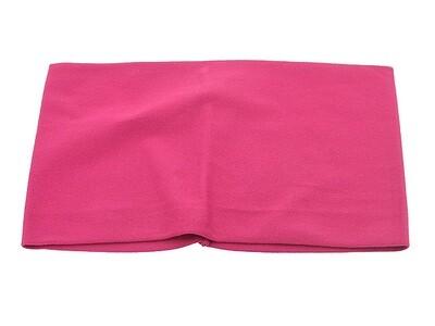 Повязка для волос розовая