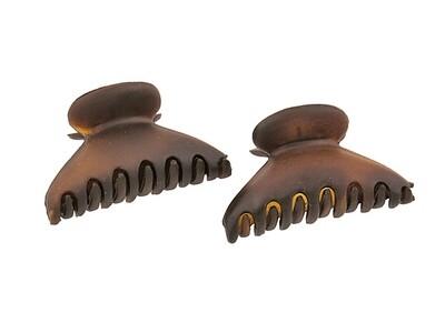 Зажим для волос мини коричневый