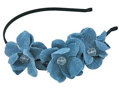 Ободок для волос синий