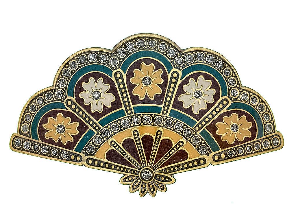 Заколка для волос Clara Bijoux бордовая