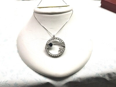 PLATINUM CIRCLE OF LIFE NECKLACE BROOCH