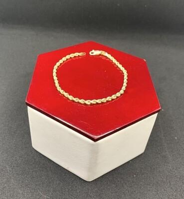 Diamond Cut Rope Bracelet