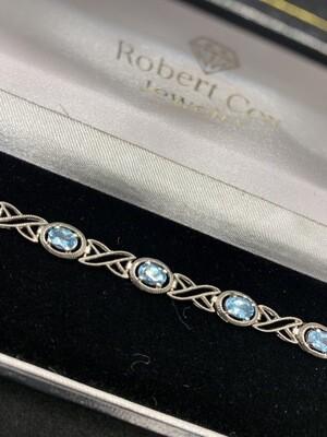Antique Blue Topaz Bracelet