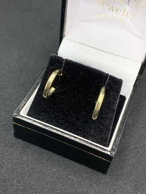 Small Gold Click Catch Tube Hoops