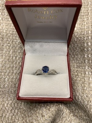 Sapphire Bypass W Diamond Accents