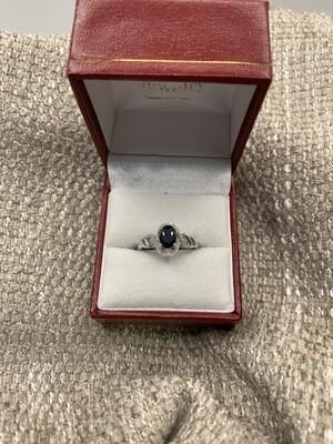 Oval Sapphire With Diamonds