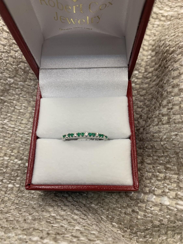 Emerald Diamond Anniversary Band