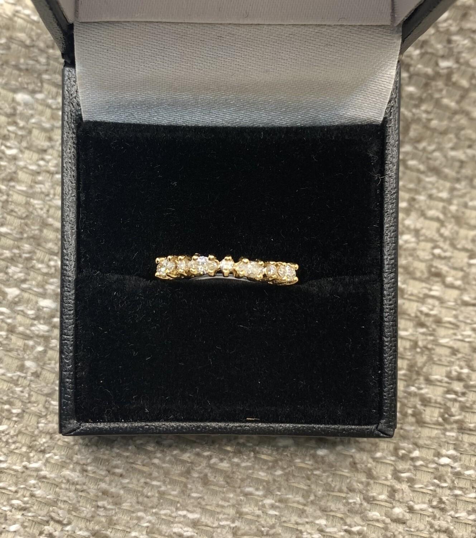 Inline Diamond Wedding/anniversary Band
