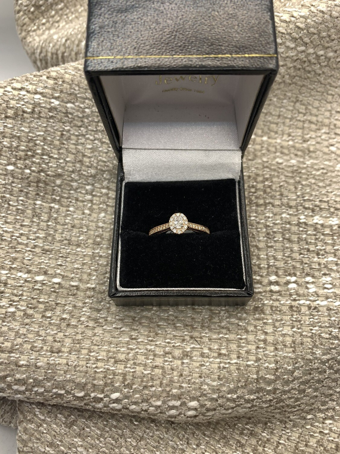 14K Rose Gold Cathedral Mount Engagement 50 pt Total Weight