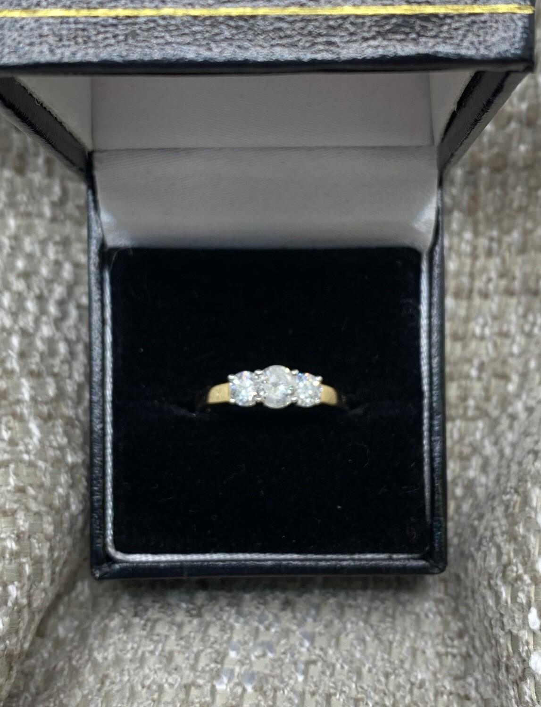 1Ct Past, Present & Future Diamond Anniversary Ring