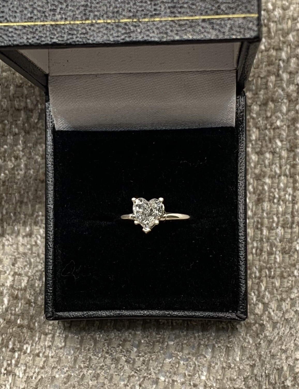 3/4 Ct Heart Shaped Solitaire Engagement