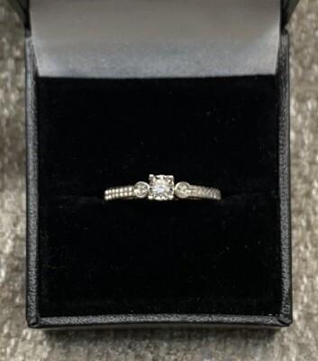 Diamond Engagement W Diamond Accent Band