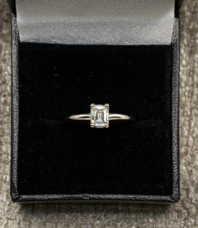 Emerald Cut Solitaire