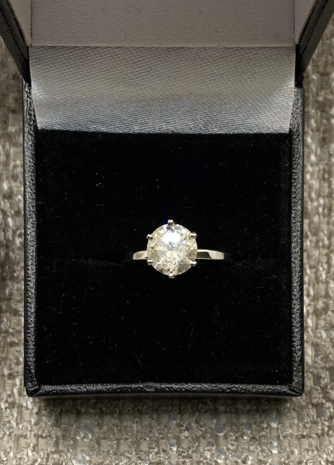 1.64 Ct Brilliant Solitaire White Gold Engagement Ring