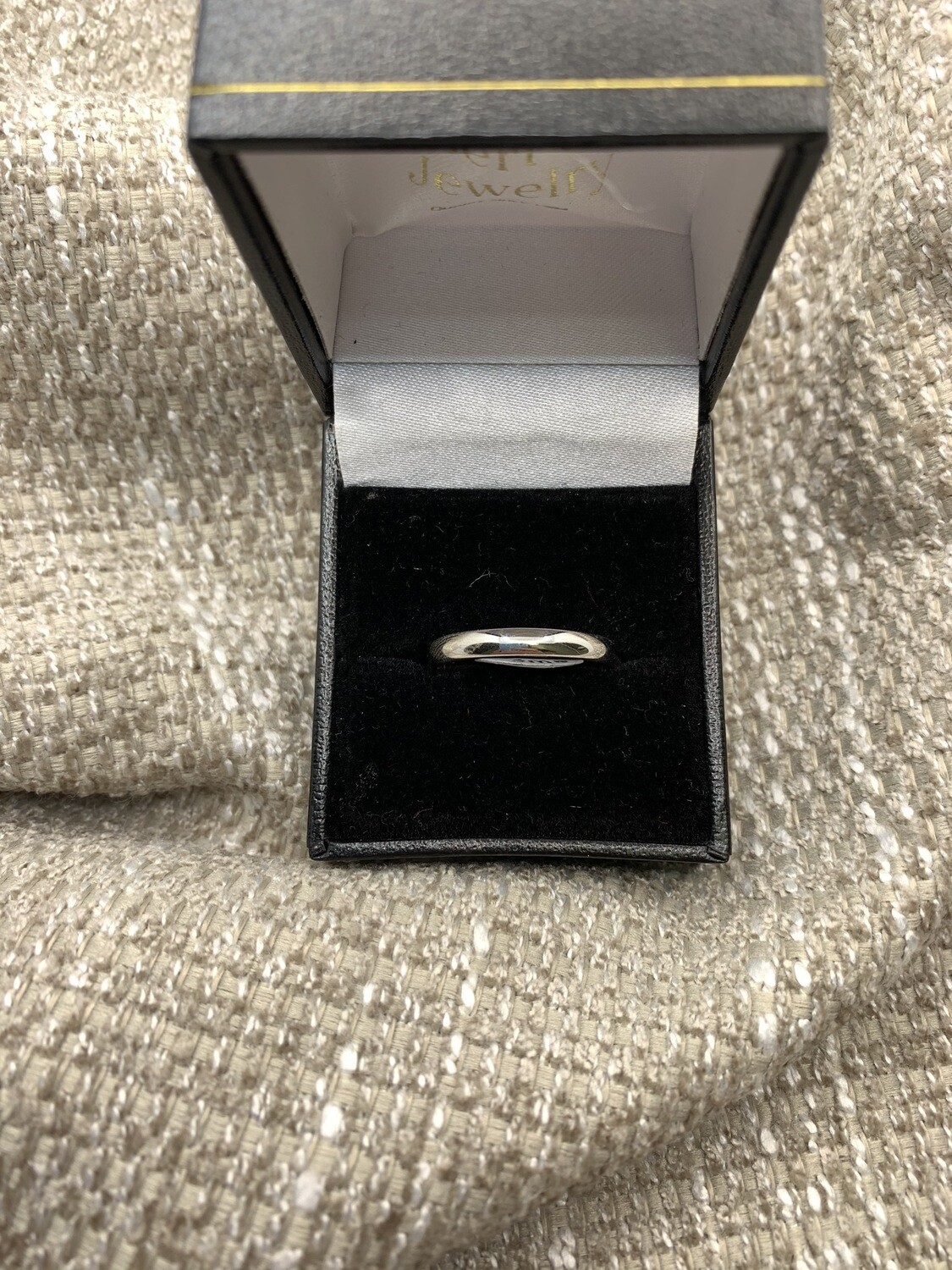 3 mm 10k White Gold Wedding Band