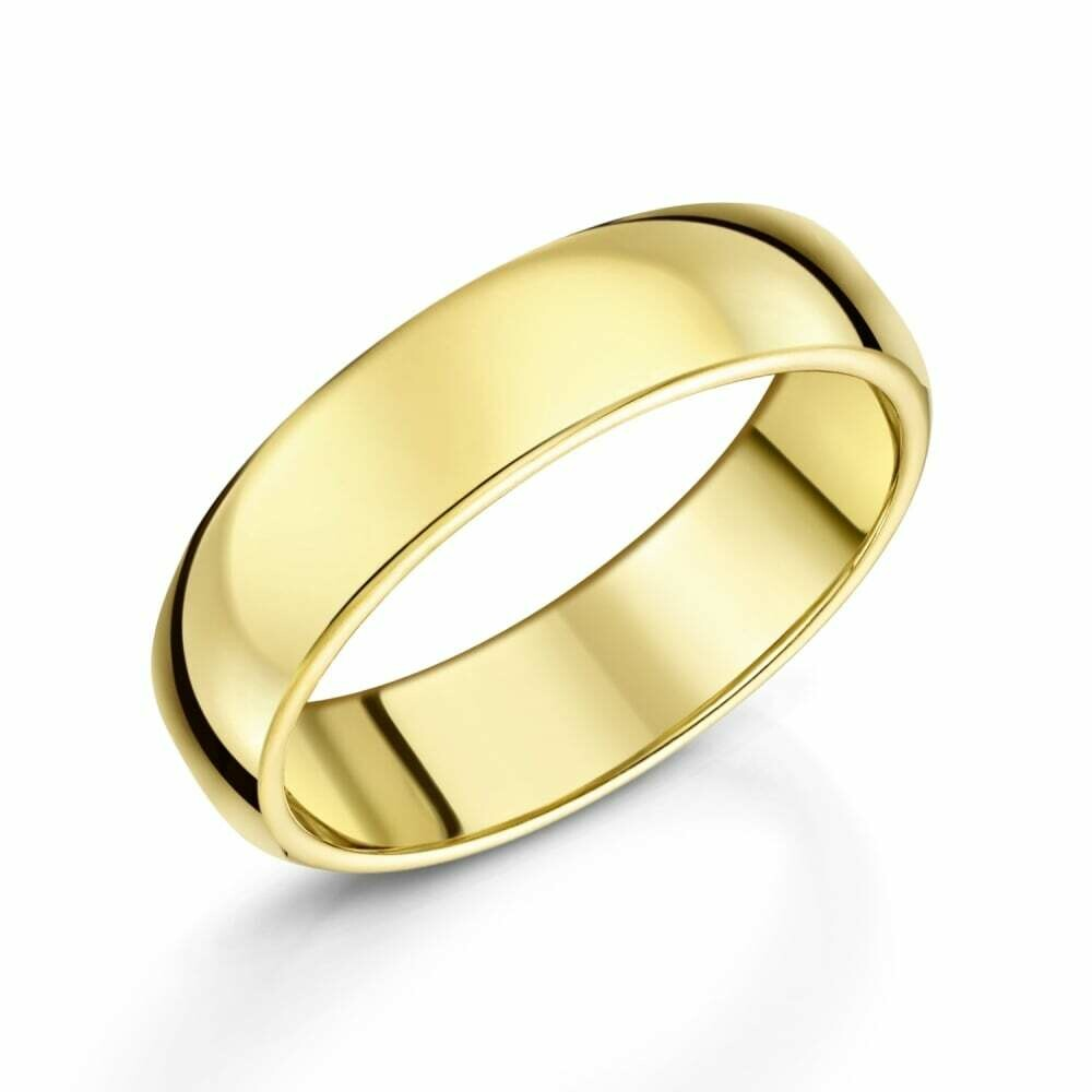 5mm 10k Yellow Gold Band Size 7