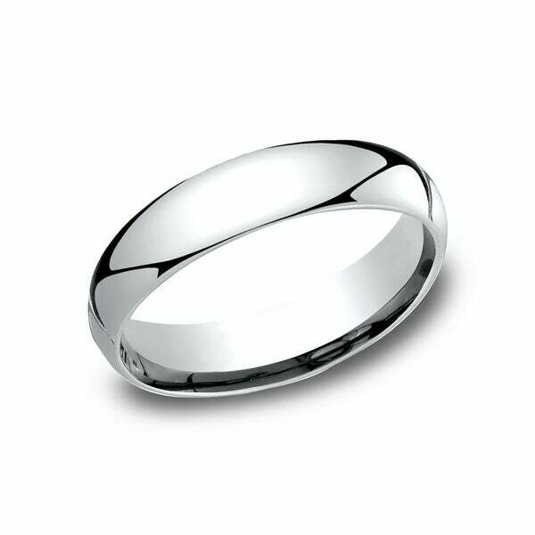 5mm 10k White Gold Band Size 6