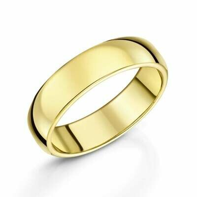 5mm 10k yellow gold size 5