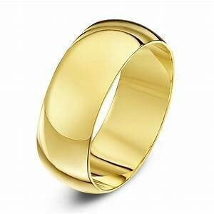8mm 10k Yellow Gold Band Size 9