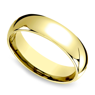 6mm 10kt Yellow Gold Band Size 5