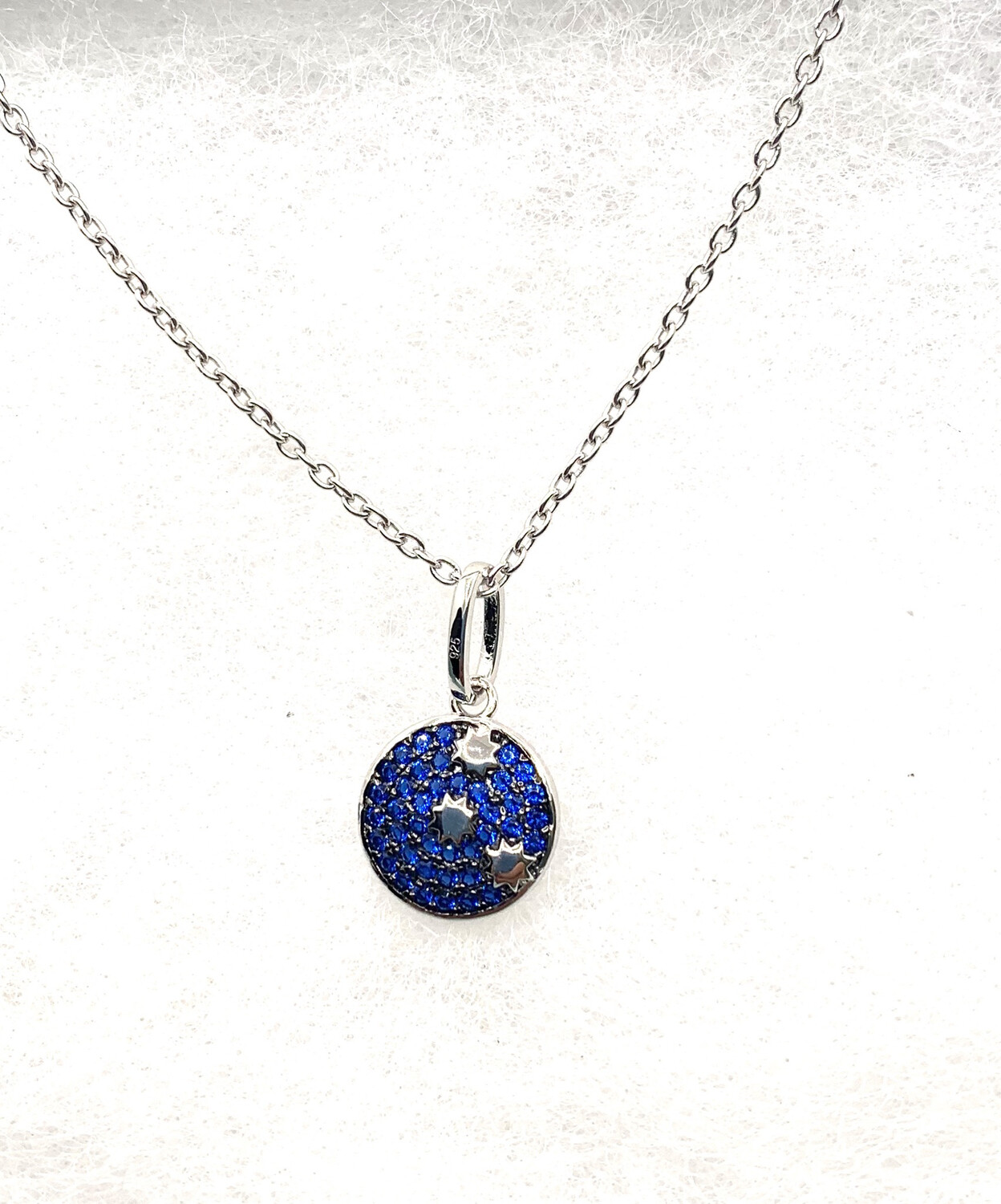 Synthetic Blue Birthstone Galaxy Necklace