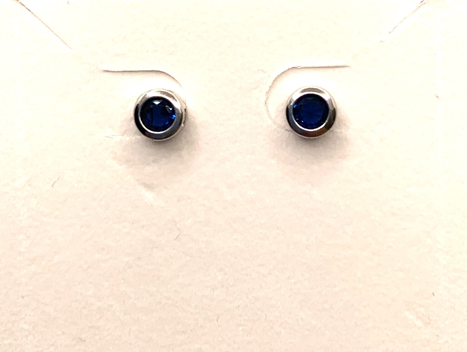 Blue Birthstone Studs