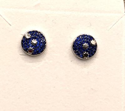 Galaxy Blue Synthetic Birthstone Earrings