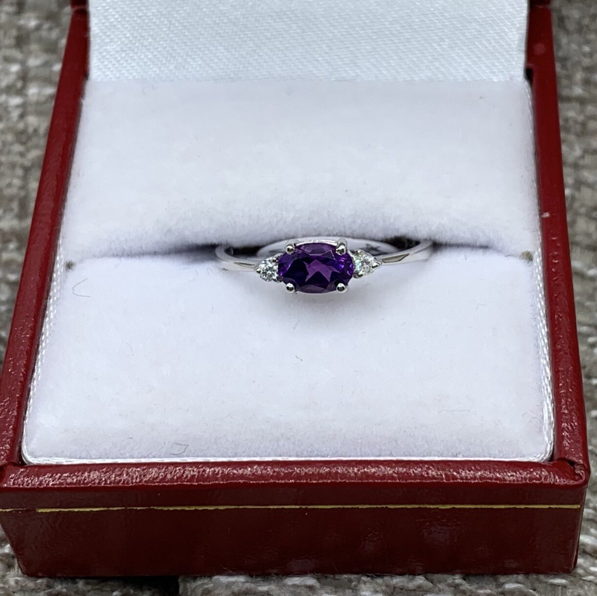 Amethyst With Diamond Accents