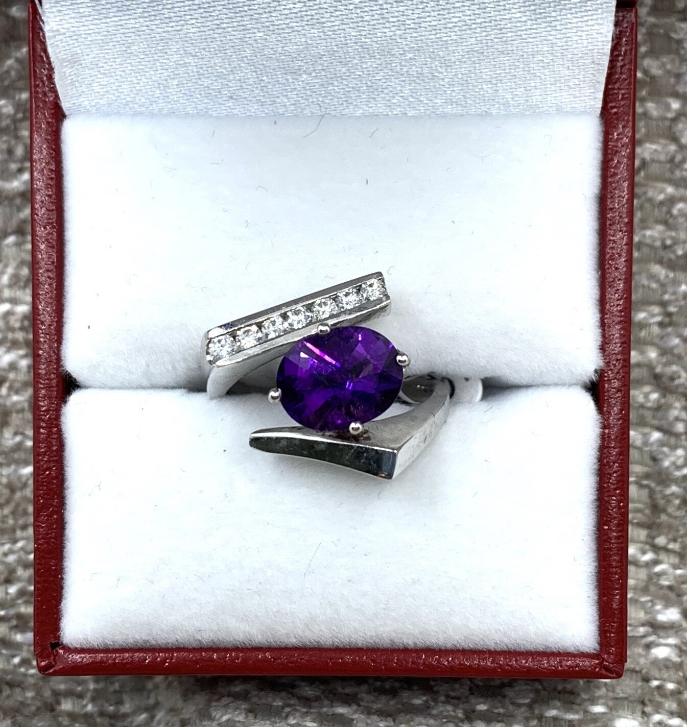 Large Stunning Oval Amethyst Statement Ring