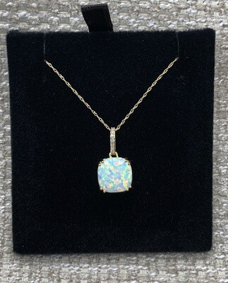 Lab Created Opal Pendant