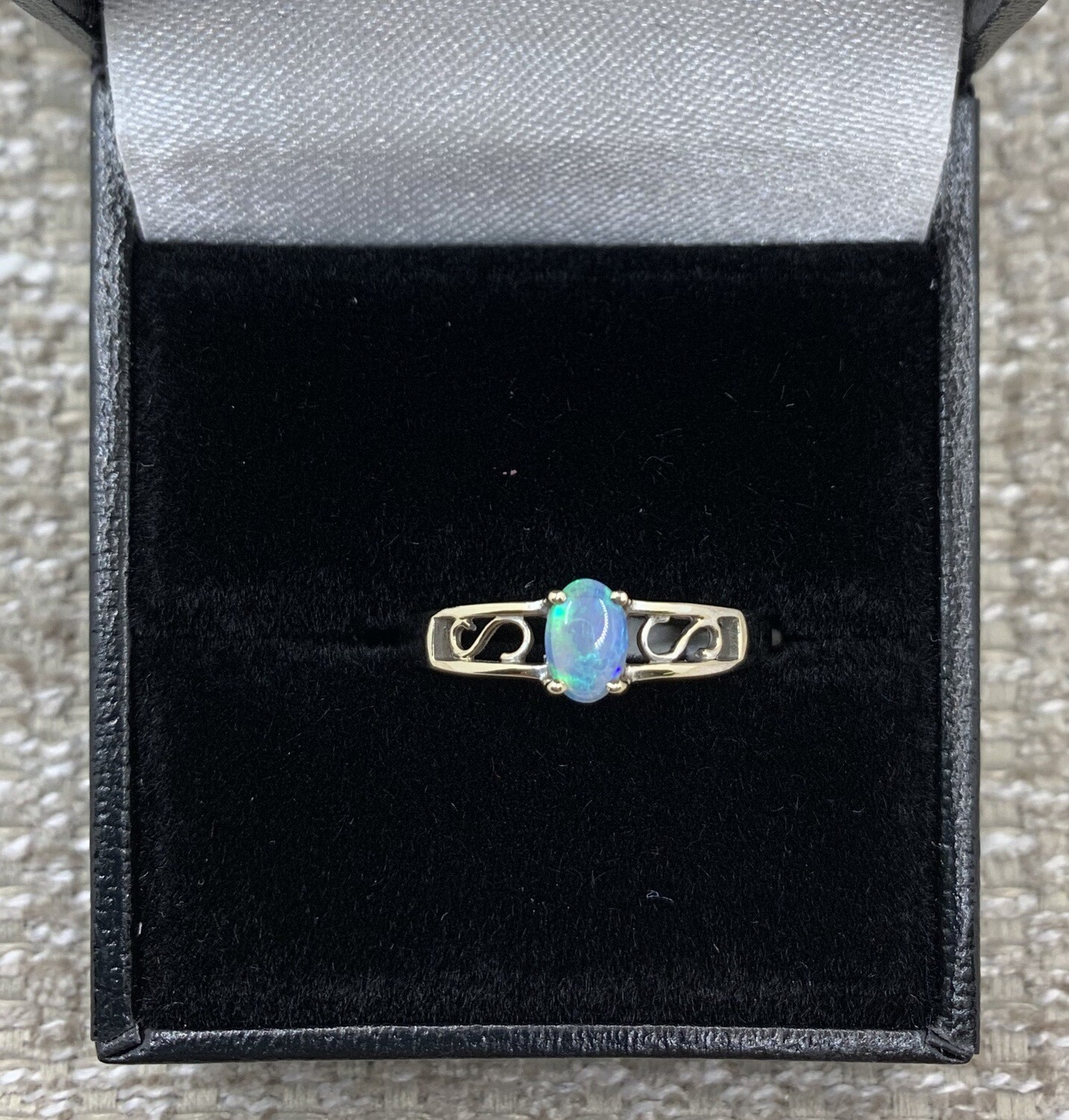 Opal Filigree Ring