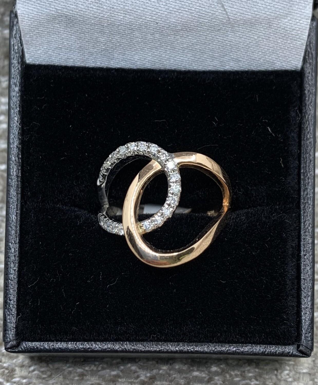 Rose Gold Diamond Loops Ring