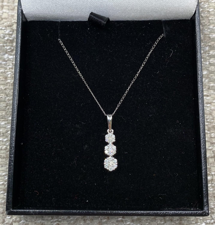 Diamond Cluster Trio Pendant