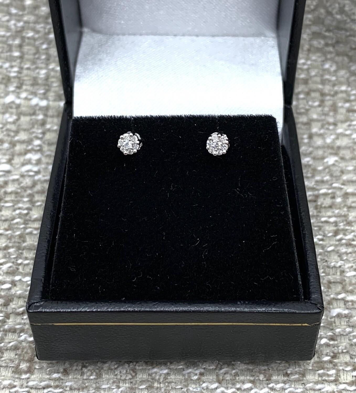 Diamond Cluster Post Earrings