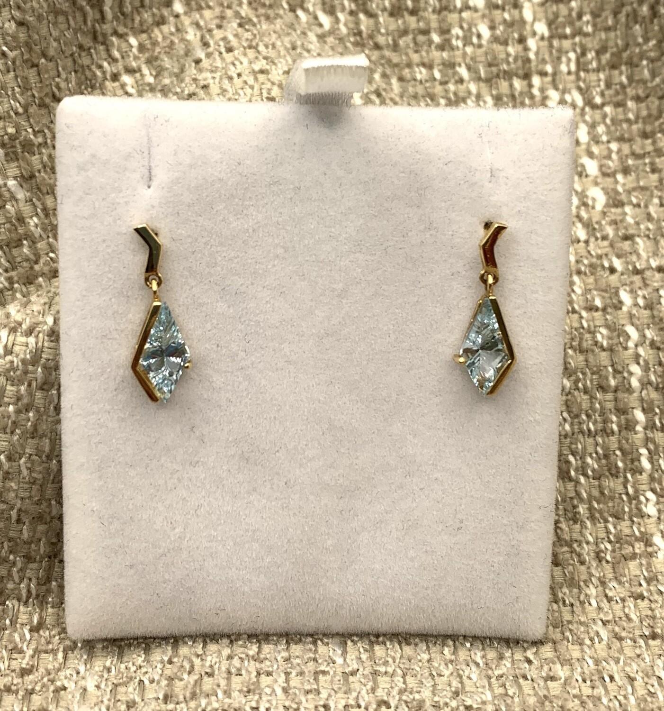 Blue Topaz Drop Post Earrings