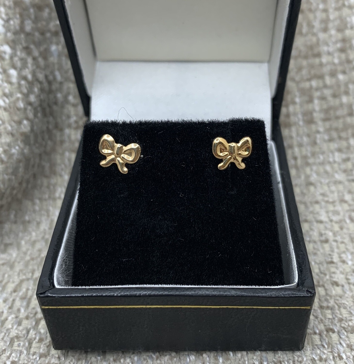 14k Gold Bows Post Earrings