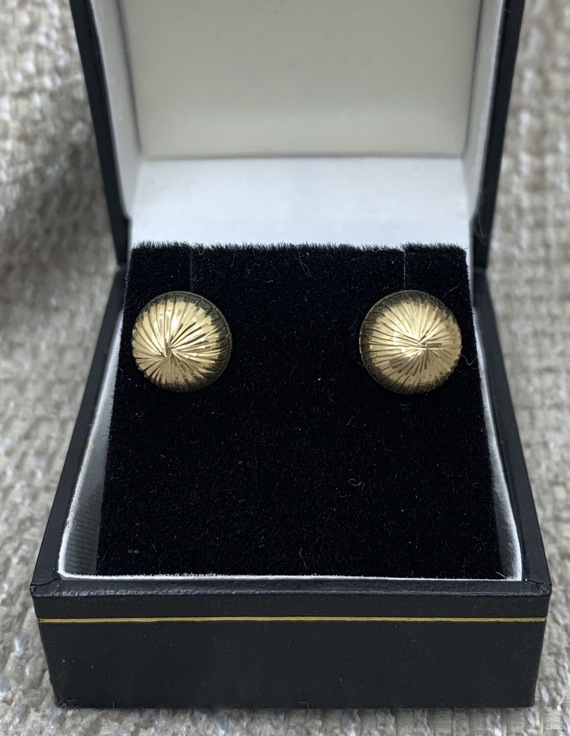 9mm Half Dome 14k Gold Starburst Posts