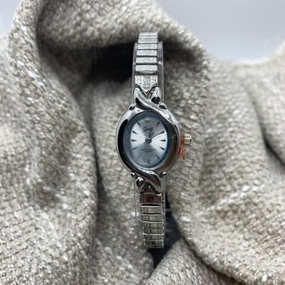 Speidel Silvertone Ladies Stretch Watch