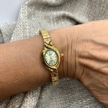 Speidel Goldtone Ladies Stretch Watch