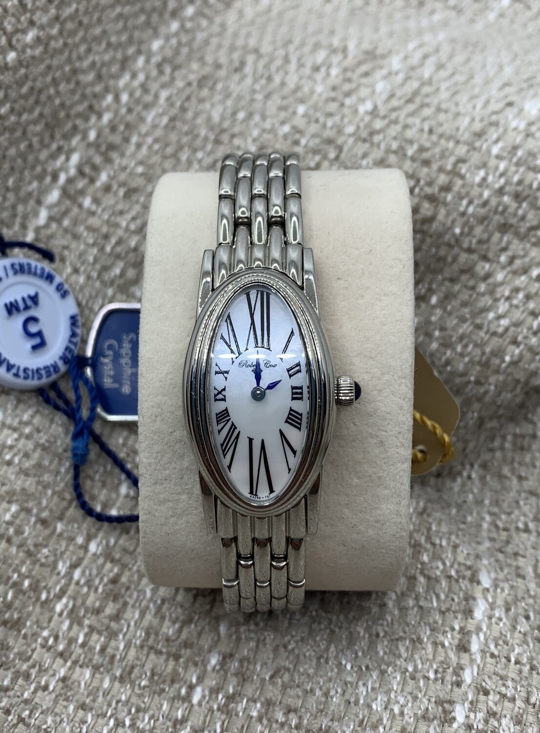 Ladies Robert Cox Stainless Mother Of Pearl Face Watch