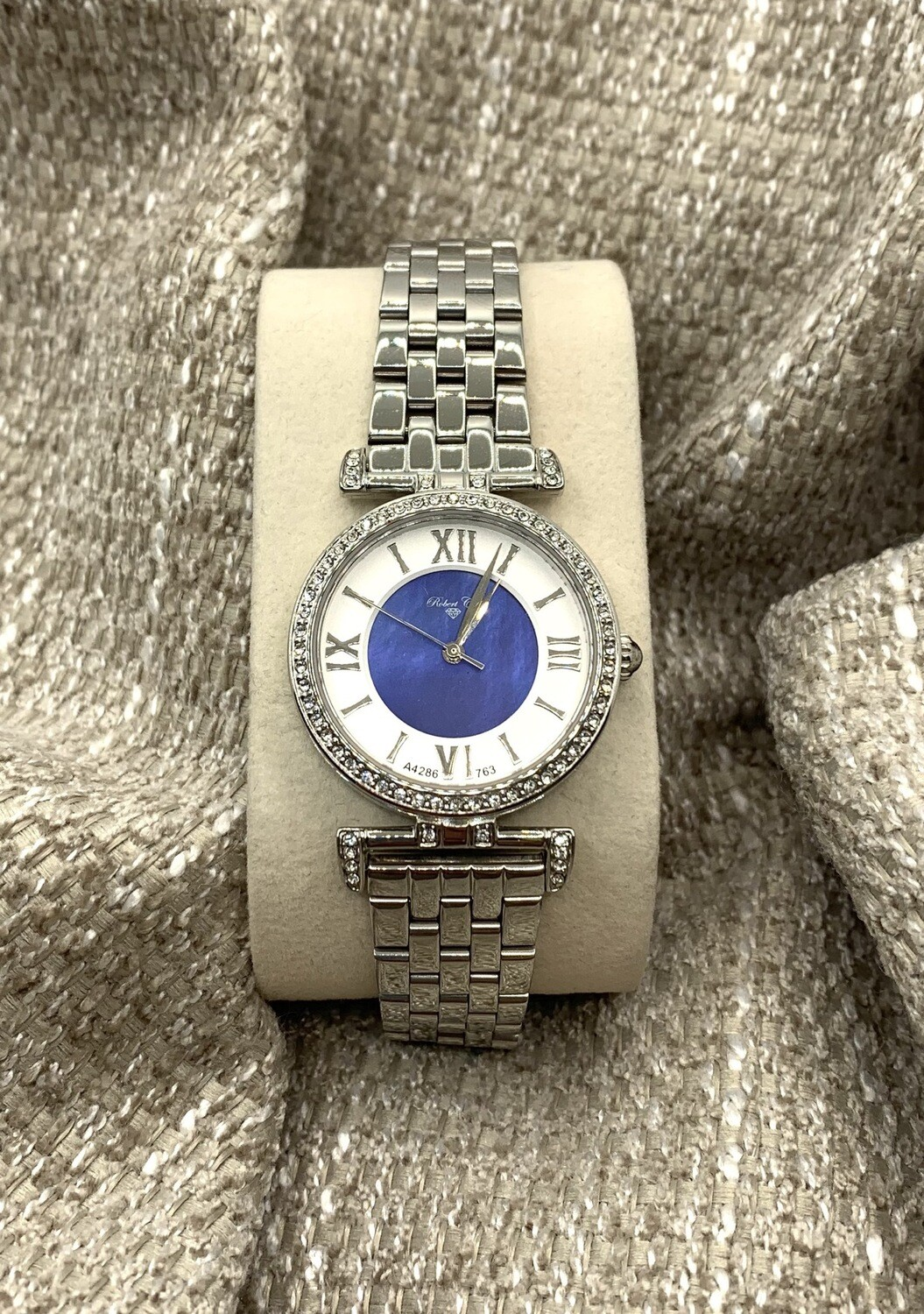 Robert Cox Ladies Mother Of Pearl Dial Swarovski Crystal Accents Watch
