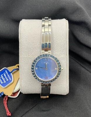 Swarovski Crystal Accent Mother Of Pearl Dial Ladies Robert Cox Watch