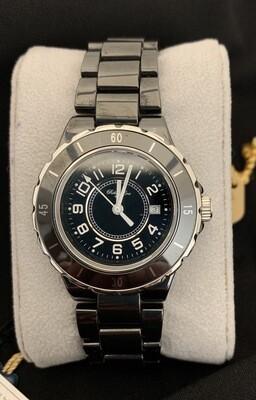 Black Ceramic Robert Cox Rotating Bezel Crown Watch
