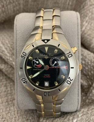 Robert Cox Luminous Black Two Tone Brushed Watch