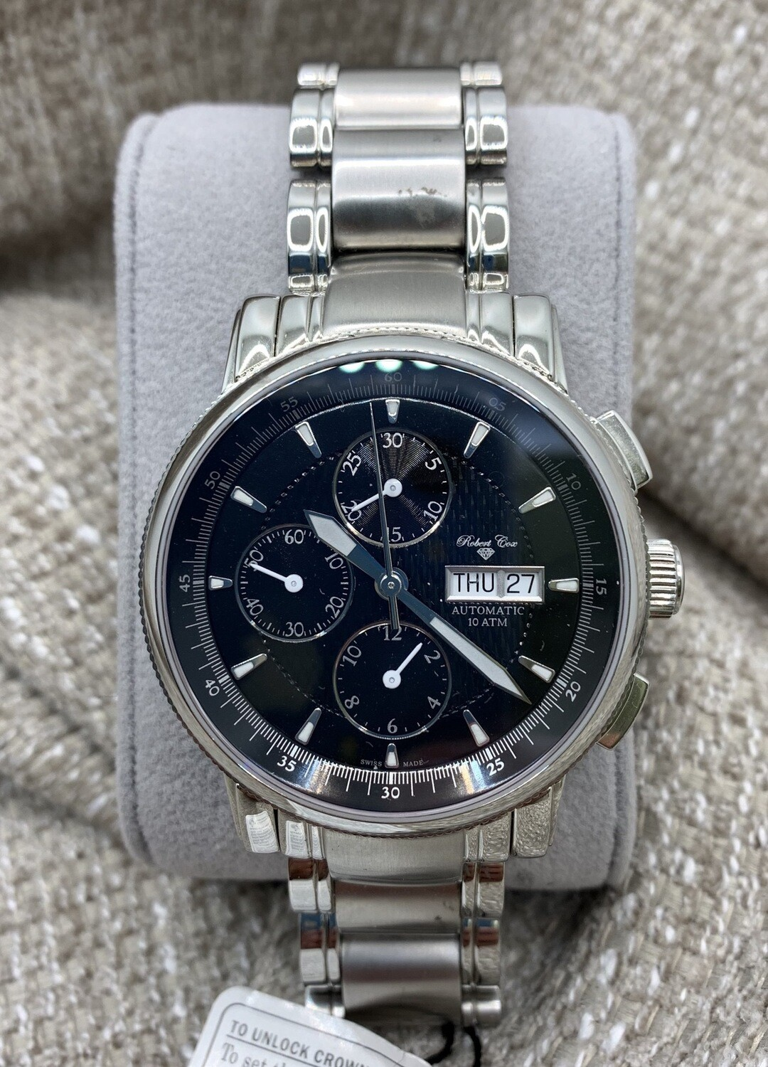 Robert Cox Signature Multifunction With Exhibition Back Watch