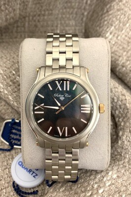 Robert Cox Brushed Stainless Steel Mother Of Pearl Dial Watch