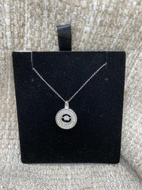 1/4 Ct Constant Motion Shimmering Diamond Pendant