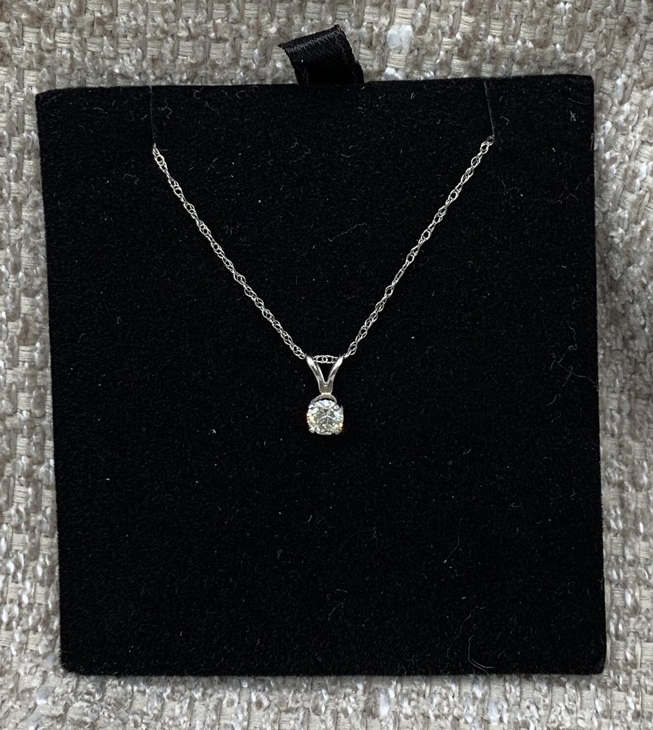 1/4 Ct Diamond Solitaire Necklace